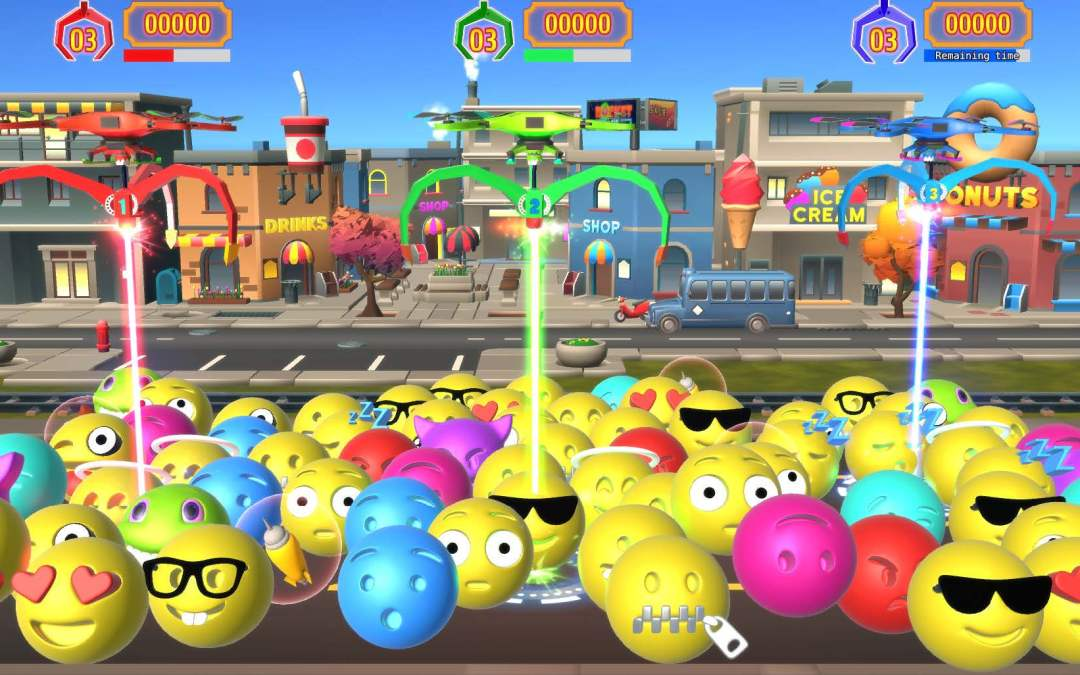 Crazy Claw, the World's 1st Video-Redemption Crane Game is Back at Amusement Expo with Emojis Update