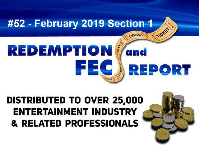 The Redemption & Family Entertainment Center Report – February 2019 Section 1