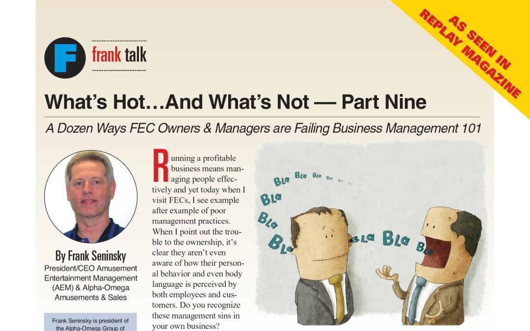 A Dozen Ways FEC Owners & Managers are Failing Business Management 101