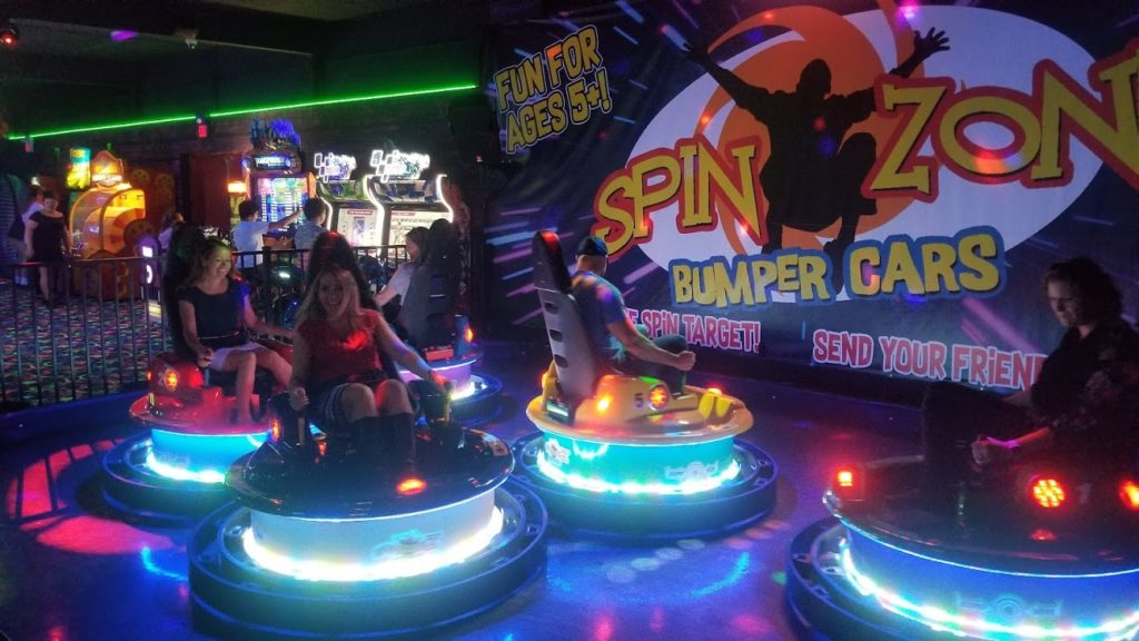 Amusement Products Spin Zone Z Tubeless Bumper Cars Bump Up Revenues at Fun Factor Fun Centre in Kamploops British Columbia