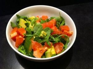 grapefruit arugula salad