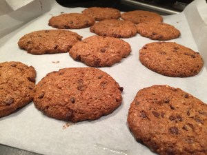 Paleo Salted Almond Butter Chocolate Chip Cookies