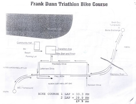 Frank Dunn Triathlon Bike Course Map