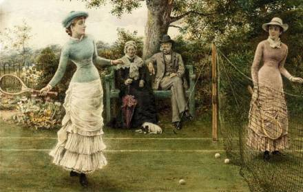 George Goodwin Kilburne junior (1863-1938), A Game of Tennis (1882).