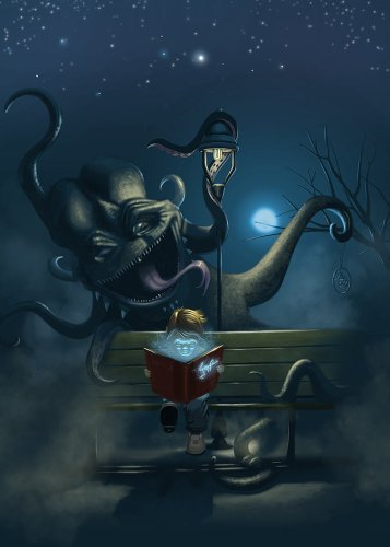 http://t-ry.deviantart.com/art/Reading-the-monster-395926279
