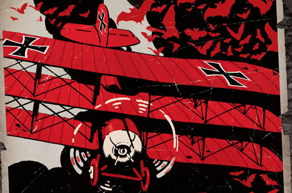 The 2012 reissue of The Bloody Red Baron has some flashy new cover art.