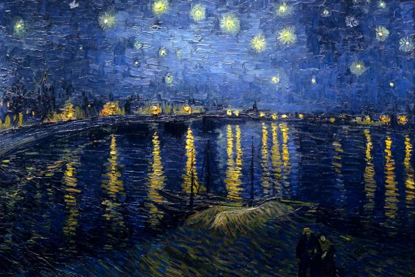 Vincent Van Gogh. Starry Night Over the Rhone, 1888.