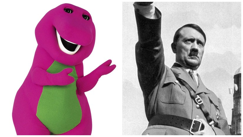 Barney the Dinosaur is a different kind of monster than Adolf Hitler, though I'm sure many people on the internet would disagree.