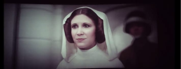 A young, CGI Leia in Rogue One.