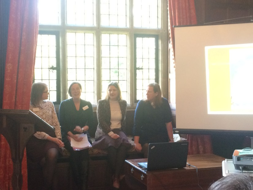 Four of the speakers at the training day