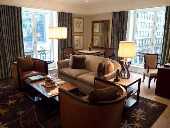 Living room in Peninsula Hotel Suite, New York