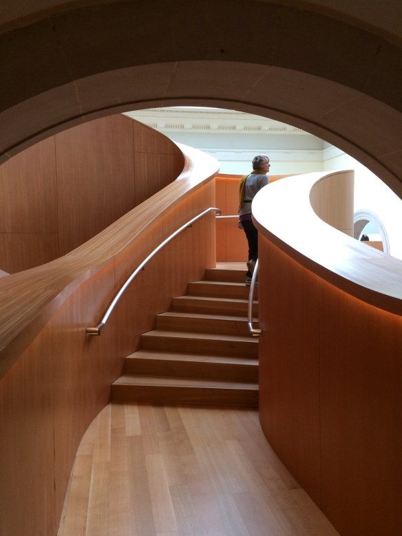 Part of architect Frank Gehry's masterful work in the Art Gallery of Toronto.
