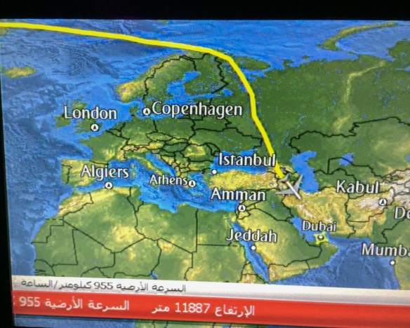 The flight plan of the LAX-Dubai Emirates Airlines flight is nothing less than fascinating for a traveler and the seatback screen keeps you updated.
