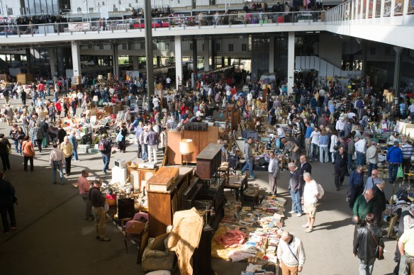 Huge, multi-storied flea market, rumored to be the largest in Europe.