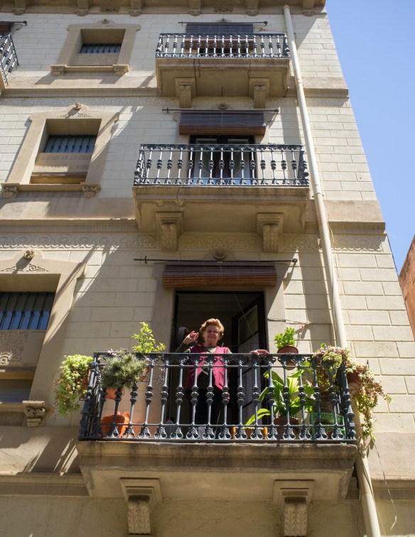 Friendly folks in Barcelona's Grácia neighborhood.