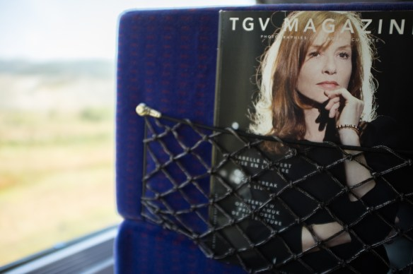 On the sleek new TGV line from Barcelona to Beziers (which continues on to Paris)