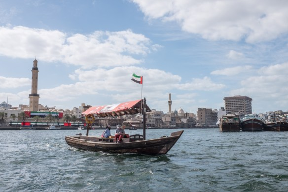 Ride an abra, water taxi, across Dubai Creek and see small trading vessels from around the Arabian Gulf.
