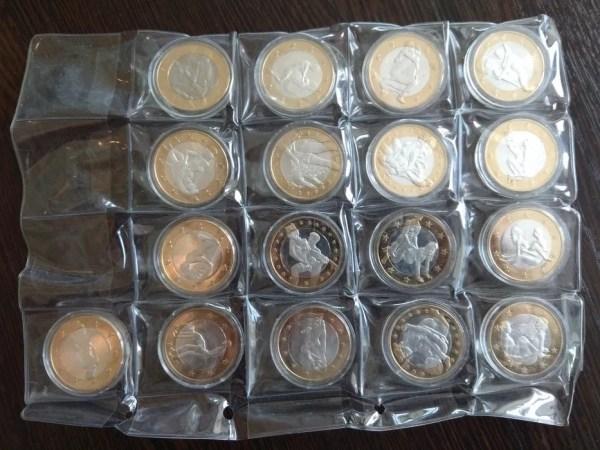 Набор монет 6 евро Sex Euros 17 шт. (разные) Сувенирные ...