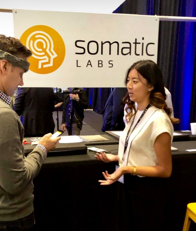 Haptic on display by Somatic Labs at AFWERX Helmet Challenge
