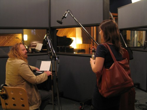 Edwin Huizinga and Erika Nielsen arrive to record I Wait For You for Frank Horvat's Me to We album at Canterbury Studios 2016