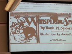 Presentation on WordPress and Whispering Smith Blog by Lauren Lees. Photograph by Rosemary Irvine