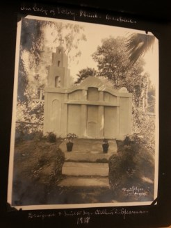 MSMC Archives photograph of 1918 Lady of Victory Shrine. Photograph by Rosemary Irvine