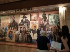 Detail of Mural at the Gene Autry Museum (entertainers detail). Photograph by Rosemary Irvine