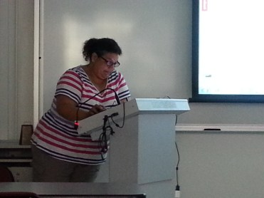 Veronica presenting Mendeley. Photograph by Rosemary Irvine