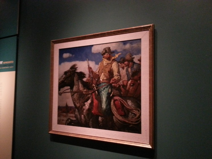 """N.C Wyeth became well known for his cowboy inspired art and illustrations such as those found in """"Whispering Smith"""". Photograph by Rosemary Irvine"""