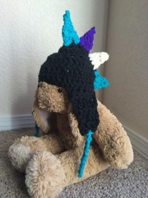 Crochet Dino Baby Hat