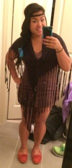 Used a shawl and moccasins