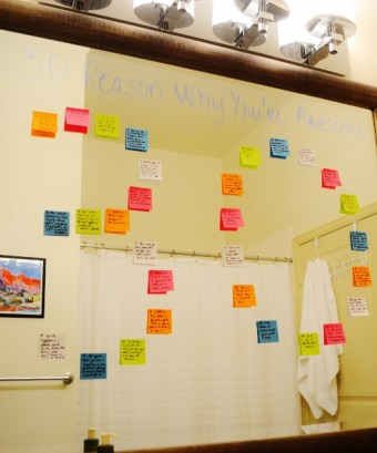 30 Reasons Why You're Awesome on Post-it Notes