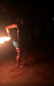 Fire Show Hula Hoop at Lazy Mon