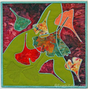 "Franki Kohler, Broken Ginkgos III, 12"" x 12"", 2012, For Sale"