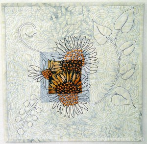 "Franki Kohler, Sunflower Scrap II, 12"" x 12"", 2012, For Sale"