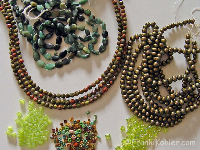 Franki Kohler, considering beads