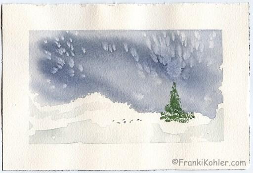 """Franki Kohler, Watercolor 2, 6"""" x 9"""""""