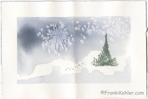"""Franki Kohler, Watercolor 4, 6"""" x 9"""""""