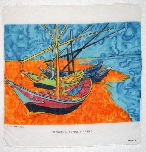 Barques Aux Saintes-Maries, van Gogh, Kreier, 13 1/4 x 12 3/4