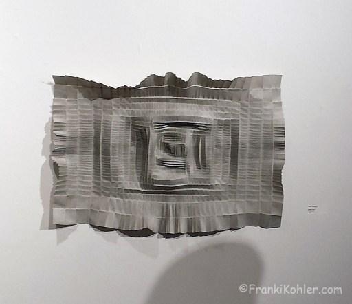 Franki Kohler, Pence Gallery, folded paper