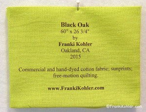 Black Oak label