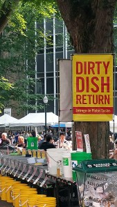 Farmer market Dirty Dish Return