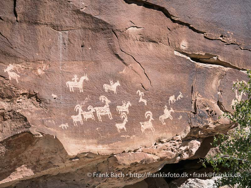 Petroglyffer ved Wolfe Ranch, Arches