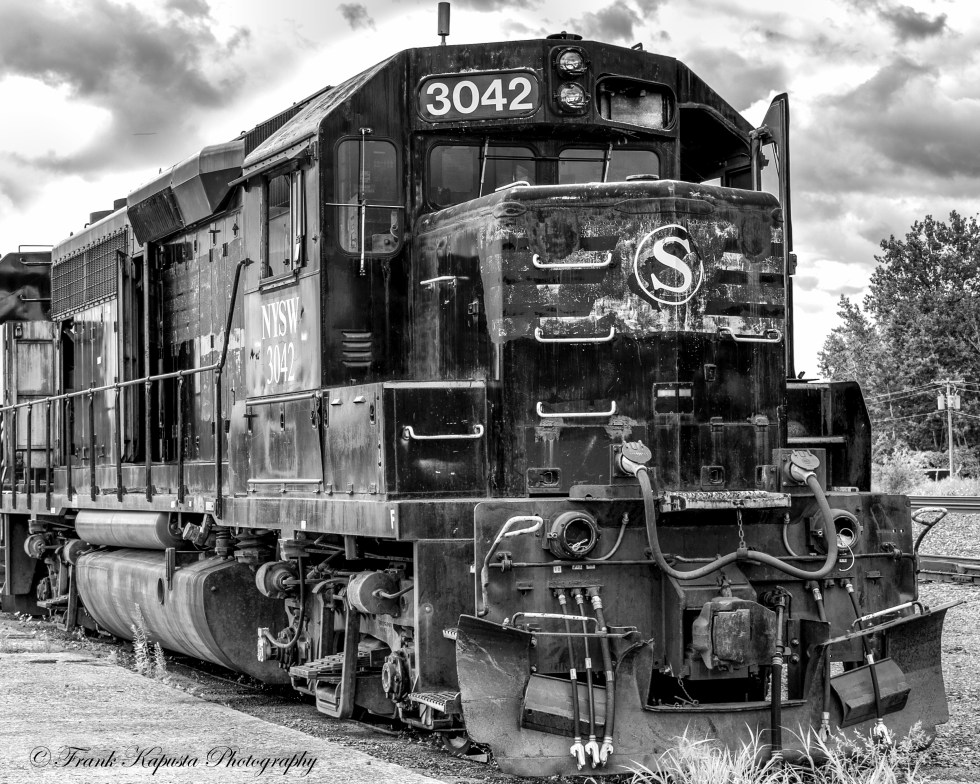 NYSW No. 3042 was found, along with some other rolling stock and engines, on old siding at the former Lakawanna Freight House in Utica, NY.