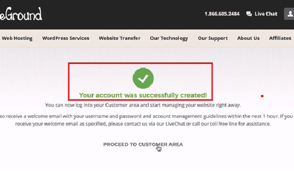 siteground申請成功