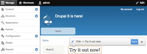 Drupal畫面