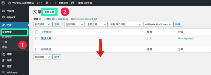 wordpress 文章列表