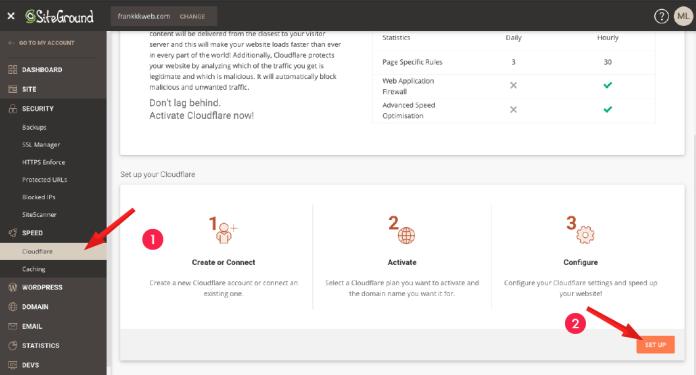 網站架設 :SiteGround Cloudflare 教學