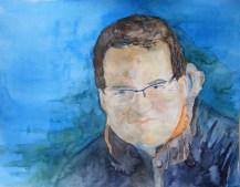 Ich ;-) (c) Selbstportrait in Aquarell von Frank Koebsch