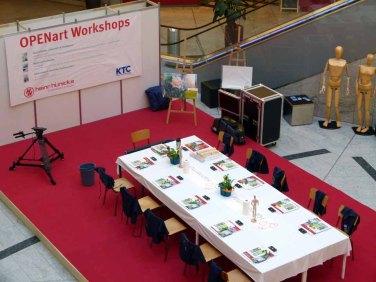 Ruhe vor dem Start der OPENart Workshops im KTC (c) FRank Koebsch (2)